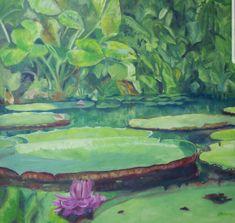 #Amazonas #wasserblumen #regenwald #ölmalerei #Gemälde #Kunst Victoria, Etsy Seller, Creative, Painting, Art, Amazons, Painted Canvas, Flowers, Kunst
