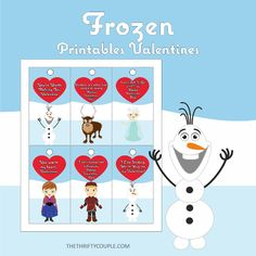 Free Frozen Printable Valentine's Cards (With Adorable Quotes) Valentine's Day Printables, Printable Cards, Frozen Printable, Printable Valentine, Valentine Day Crafts, Love Valentines, Kids Party Themes, Party Fun, Adorable Quotes