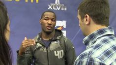 Hear what Derrick Coleman had to say about Super Bowl XLVIII Media Day. Seahawks Team, Seattle Seahawks, Football Team, Derrick Coleman, Videos Photos, 12th Man, Super Bowl, Athletes, Nfl