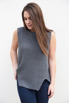 Charcoal Muscle Tank Sweater - The Rage - 1