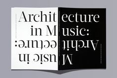 Center 18: Music in Architecture: Architecture in Music — Dyal — Design and Communication (font: Acta)