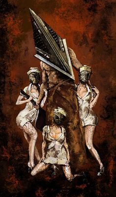 Silent Hill nurses and pyramid head