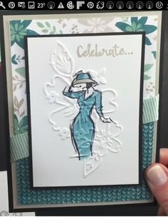 Beautiful You with Floral Affection Embossing Folder in background.