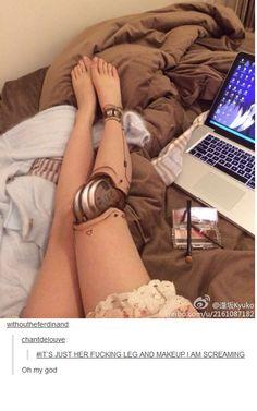 leg make up