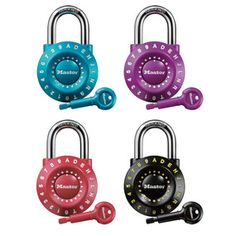 These are great school locker locks for kids who have trouble remembering number combinations.