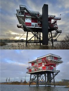 REM Eiland Restaurant in Amsterdam, Netherlands by Concrete | Photos by Klass Vermaas | via Archidose