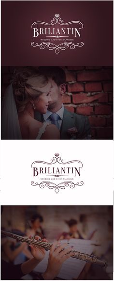 Logo created by Dia Dicheva Design for an enchanting place called - Briliantin - Wedding and Event Planning agency situated in Burgas, Bulgaria.