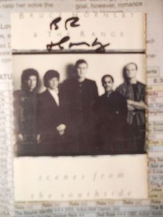 BRUCE HORNSBY--- -AUTOGRAPHED SIGNED CUT-