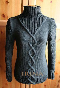 Кофты и свитера ручной работы. Ярмарка Мастеров - ручная работа Свитер под жилет. Handmade.