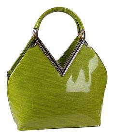 Loving this Green Stud Satchel on #zulily! #zulilyfinds