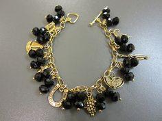 Charm Bracelet - Golden Black £14.00