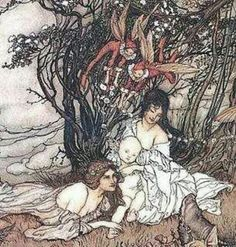 The changeling. Celtic folklore