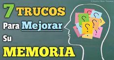 No necesita de medicamentos caros ni ningún procedimiento médico para mejorar su memoria - aquí siete técnicas en base al estilo de vida. http://articulos.mercola.com/sitios/articulos/archivo/2014/05/17/trucos-para-mejorar-la-memoria.aspx