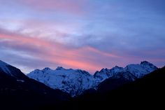 Tramonto sul Monte Bianco - Sunset over Monte Bianco