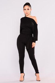 Pro Lounger Jumpsuit - Black
