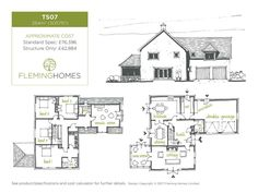 House Designs and Floor Plans - Fleming Homes Building A House, House Plans, Floor Plans, House Design, How To Plan, House Styles, Case, Build House, House Floor Plans