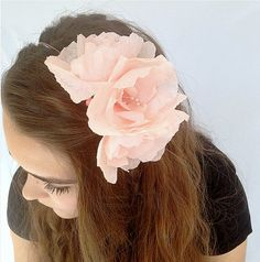 Hey, I found this really awesome Etsy listing at https://www.etsy.com/listing/222568859/pink-peony-crepe-paper-flower-headband