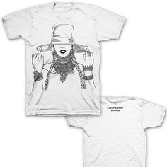 Beyonce Formation Tour middle finger white t shirt