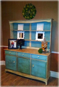 Country style Antiques and Antique hutch on Pinterest