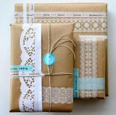 Yes it's on stock again deco tape lace, we made these lovely packages with it Christmas Gift Wrapping, Christmas Gifts, Washi Tape, Masking Tape, Mini Albums Scrap, Paper Crafts, Diy Crafts, Gift Packaging, Packaging Ideas