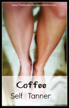 at home coffee self tanning