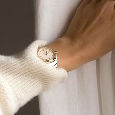 Nice To Meet, Comfort Zone, Fashion Watches, Ivory, Stainless Steel, Yellow, Lady, Classic, Gold