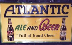 Atlantic Old South Beer Sign