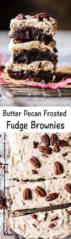 Butter Pecan Frosted Fudge Brownies | halfbakedharvest.com @hbharvest