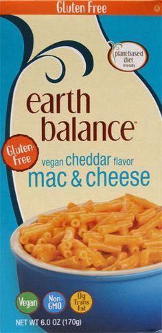 Earth Balance Gluten Free Cheddar Mac