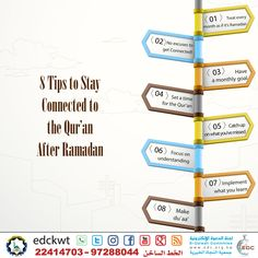 Stay Connected to the Qur'an After Ramadan - WhatsApp and Social Media e-Cards Ramadan, E Cards, Islamic Quotes, Connection, Knowledge, How To Get, Social Media, Goals, Holy Quran
