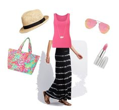 """cookout 5-29"" by bostonhibiscus on Polyvore featuring Charlotte Russe, John Lewis, Kendra Scott, Quay, Lilly Pulitzer and TheBalm"