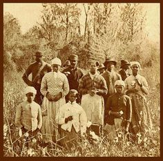 Lets be clear. There is no such person as a slave, ex-slave, or children of slaves. We were ENSLAVED. There is a great difference. Referring to our ancestors as slaves implies that this was something that they simply were. Enslavement is imposed. SLAVES, EX-SLAVES, and CHILDREN OF SLAVES IN THE AMERICAN SOUTH, 1860 -1900 (14)...group of cotton pickers in Florida.