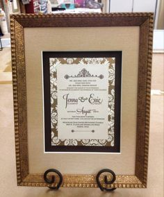 Frame Wedding Invitations make great gifts!