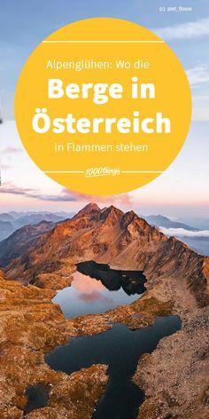 Das Alpenglühen versetzt uns immer wieder in Staunen. Die Berge in Österreich haben so einige schöne Aussichtspunkte zu bieten, vor allem bei Sonnenauf- und Sonnenuntergang. Wilder Kaiser, Movies, Movie Posters, Sport, Inspiration, Vacation Travel, Biblical Inspiration, Deporte, Films