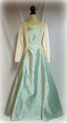Renaissance Dress Costume Custom Made Overdress SCA LARP Maiden. $170.00, via Etsy.