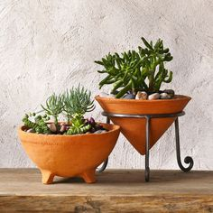 Rustic Planter succulent pot by GlinkaDesign on Etsy