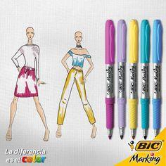 Siente la primavera y crea tu propio estilo para esta temporada con tus BIC Marking. #LaDiferenciaEsElColor #moda #fashion