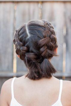 Los Mejores Peinados  5 Las trenzas para el pelo corto  Los Mejores Peinados