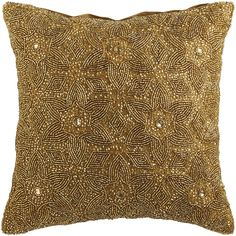 Beaded Floral Pillow