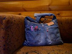 Courier bag made from old jeans - PURSES, BAGS, WALLETS