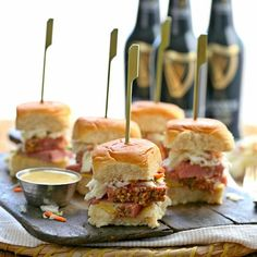 Corned Beef and Cabbage Sliders on MyRecipeMagic.com