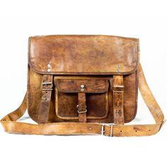 Natural Leather Handmade Fairtrade Birch Satchel