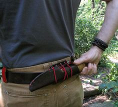KEEP YOUR PANTS ON! No need to remove your belt to put on this accessory clip. Our Bush Smarts original gives easy access to knives, bear spray, flashlights, sa