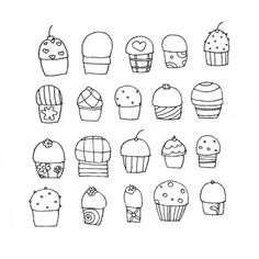 cupcakes vector by dezignation