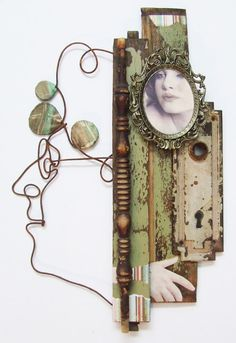 """⌼ Artistic Assemblages ⌼ Mixed Media & Collage Art - """"Aging of a woman"""" assemblage by Joel Armstrong, via Behance Found Object Art, Found Art, Art Antique, Collage Art Mixed Media, Mixed Media Sculpture, Art Brut, Assemblage Art, Vanitas, Mix Media"""
