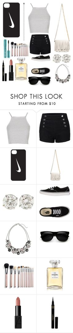 """Untitled #153"" by lilygriffiths44 ❤ liked on Polyvore featuring Topshop, LE3NO, NIKE, Proenza Schouler, Vans, White House Black Market, Retrò, Chanel, NARS Cosmetics and Napoleon Perdis"