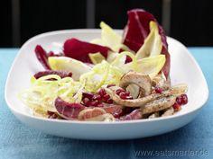 Chicoréesalat  mit Putenstreifen und Granatapfel - smarter - Kalorien: 230 Kcal | Zeit: 40 min.