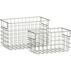 Small Wire Basket in Storage Baskets, Bins | Crate and Barrel.  To hang on wall in mud room by back door.