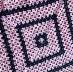 #pink #grey #blanket #babyblanket #handmade #crochet #crochetblanket #crochetbaby #grannysquare #yarn #textiles by rachelmarie652