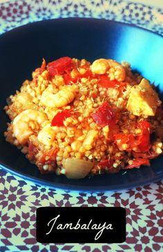 Aujourd'hui je vous présente un plat cajun, le jambalaya, mais revisité façon saine et IG bas (néanmoins délicieux!) . Vous connaissez?